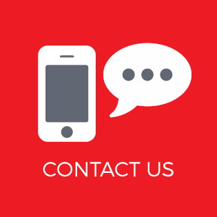 Graphic of smart phone with Contact Us text