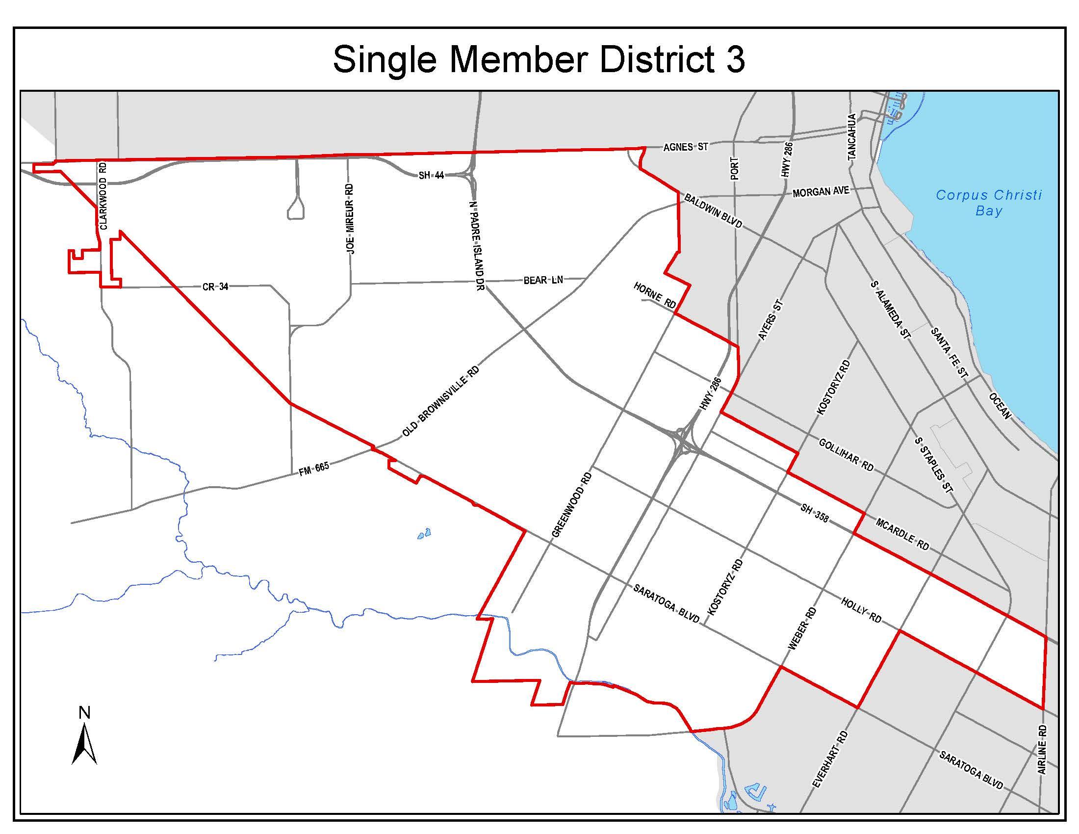 Council District 3 boundaries
