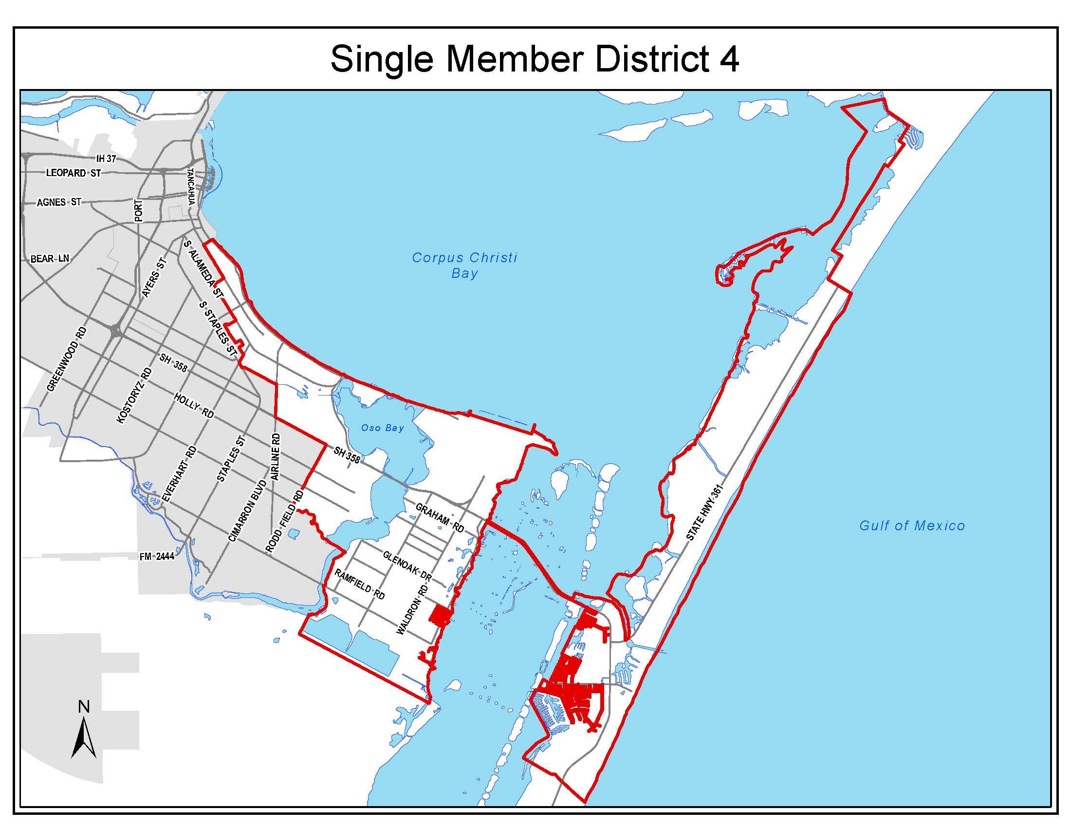 Council District 4 boundaries