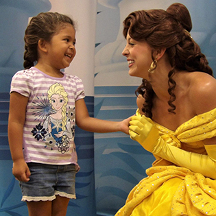 Child with Disney Princess