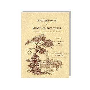 Book cover of Cemetery Data of Nueces County, Texas