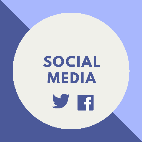 Wastewater Social Media with Twitter and Facebook Icons
