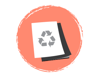Paper with Recycle logo