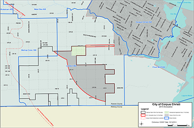 Southside FM 2444 Annexation Area Map