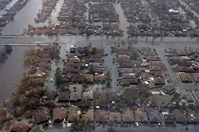 Flooding after Hurricane Katrina