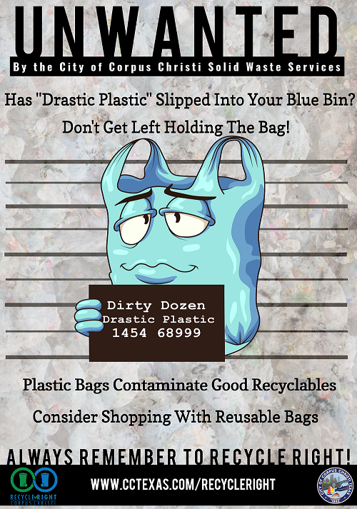 Drastic Plastic Poster: Content Above Image