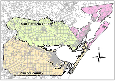 San Patricio County and Nueces County