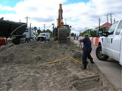 crews digging