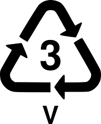 Recycling triangle with the number 3