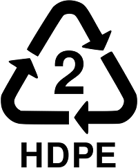 Recycling triangle with the number 2