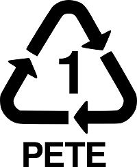 Recycling triangle with the number 1