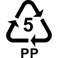 Recycling triangle with the number 5